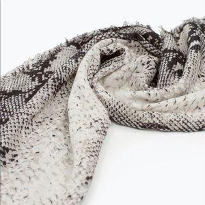 Zara Snake Print Scarf